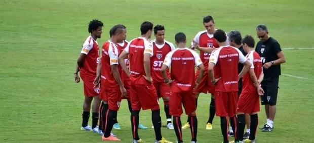 Ney Franco comanda treino com grupo do São Paulo (Foto: Site Oficial/saopaulofc.net)