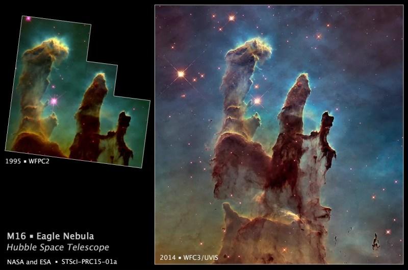 À esquerda a imagem antiga e à direita a nova (FOTO: NASA, ESA)