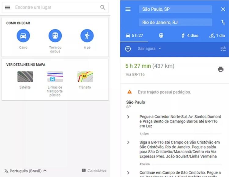 Google Maps Go é versão mais leve do aplicativo de mapas para Android (Foto: Reprodução/Paulo Alves)