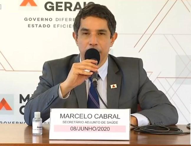 Secretário adjunto de Saúde, Marcelo Cabral — Foto: Reprodução/Rede Minas