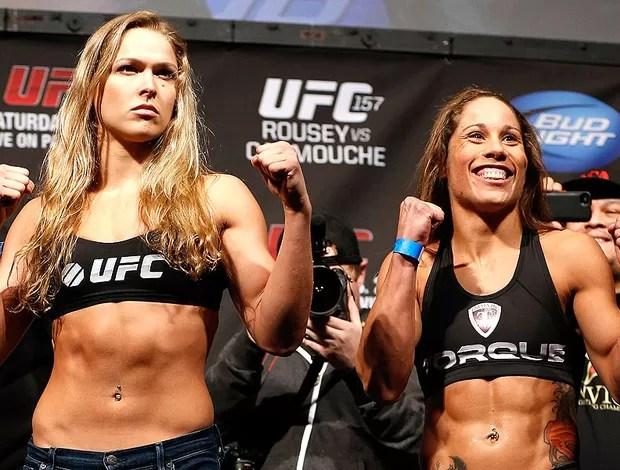 Pesagem UFC Ronda Rousey x Liz Carmouche (Foto: Getty Images)
