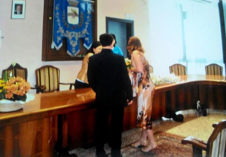 Bianca Magro se casou com o atual marido, Henri, na Itália em 2006 — Foto: Arquivo pessoal