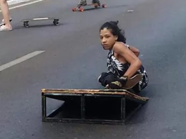 Mateus Moreira andando de skate (Foto: Mateus Moreira/Arquivo pessoal)