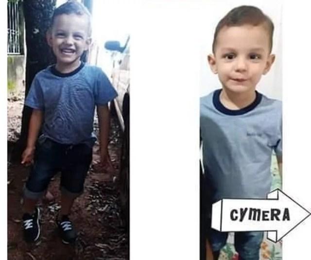 Davi Gustavo Marques de Souza, de 3 anos, foi levado morto ao hospital de Nova Marilândia — Foto: Arquivo pessoal