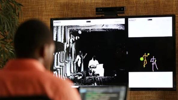 Kinect, sensor de movimentos da Microsoft. (Foto: Divulgação/Microsoft)