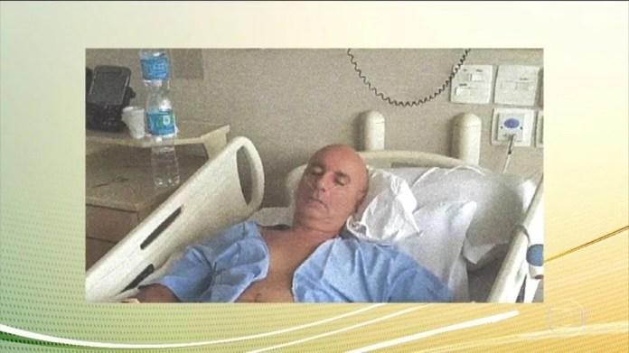 Fabrício Queiroz, ex-assessor de Flávio Bolsonaro, é internado em São Paulo — Foto: Reprodução/TV Globo
