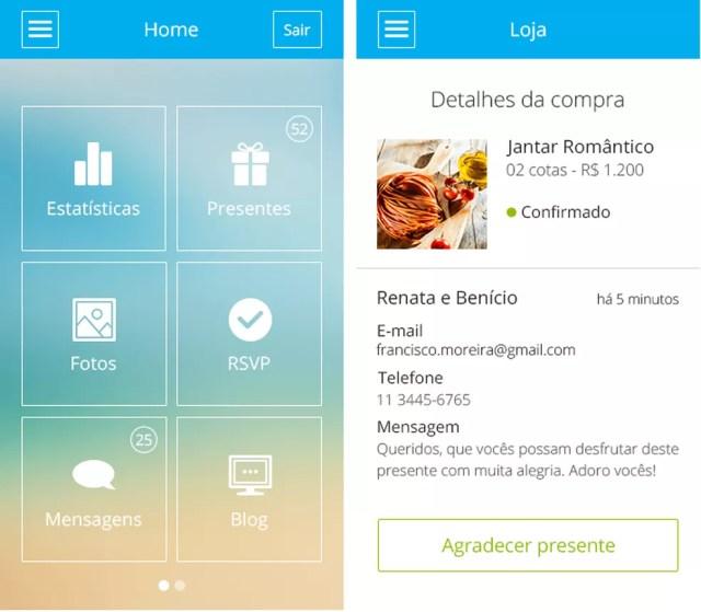 Aplicativo reúne recursos do iCasei de forma prática e simples — Foto: Divulgação/iCasei