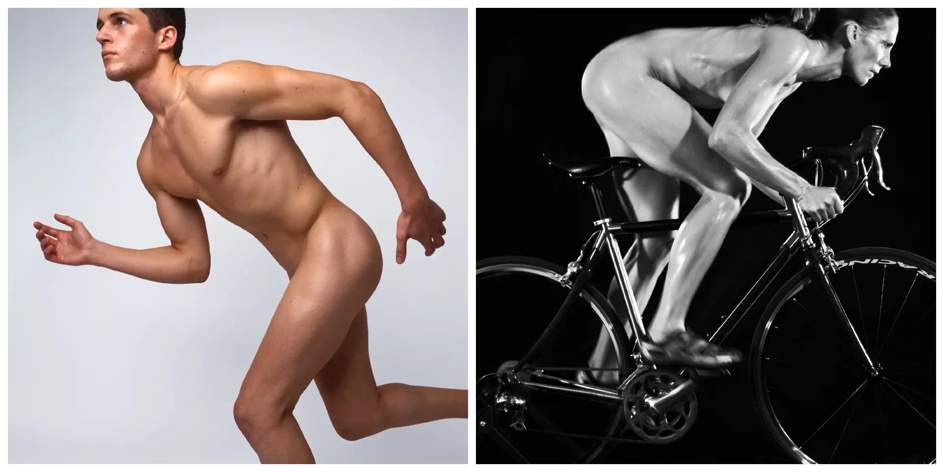 montagem eu atleta nu (Foto: Getty Images)