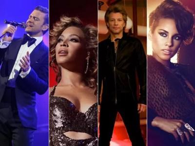Justin Timberlake, Beyoncé, Bon Jovi e Alicia Keys são atrações confirmadas no Rock in RIo 2013 (Foto: Divulgação)