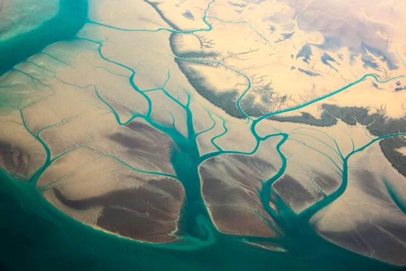 Vista aérea da costa sul do Irã (FOTO: REPRODUÇÃO)