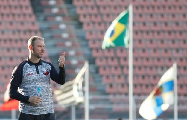 Vinicius Bergantin, técnico do Ituano — Foto: Miguel Schincariol/Ituano FC