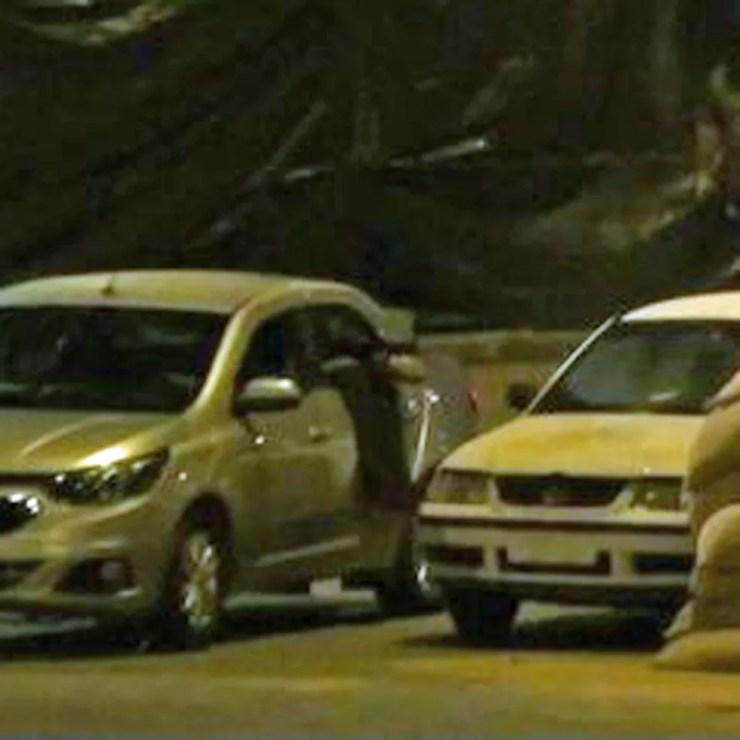 Reprodução simulada da execução de Marielle Franco (Foto: Reprodução/Globo)
