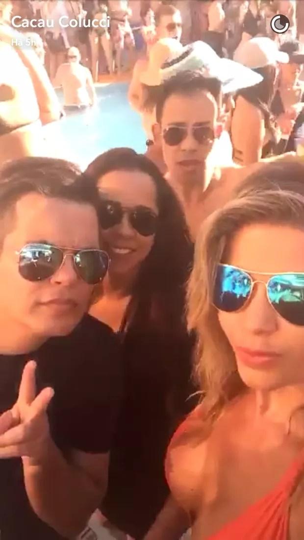 Cacau Colucci e amigos (Foto: Reprodução/Snapchat)