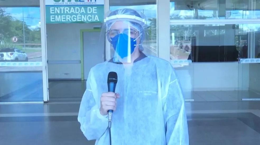 'A gente tem que escolher quem vai entubar', diz médica sobre falta de respiradores em hospitais no AC — Foto: Reprodução/ Rede Amazônica Acre
