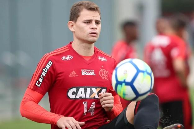 Jonas vestiu as cores do Flamengo até 2018 — Foto: Gilvan de Souza / Flamengo