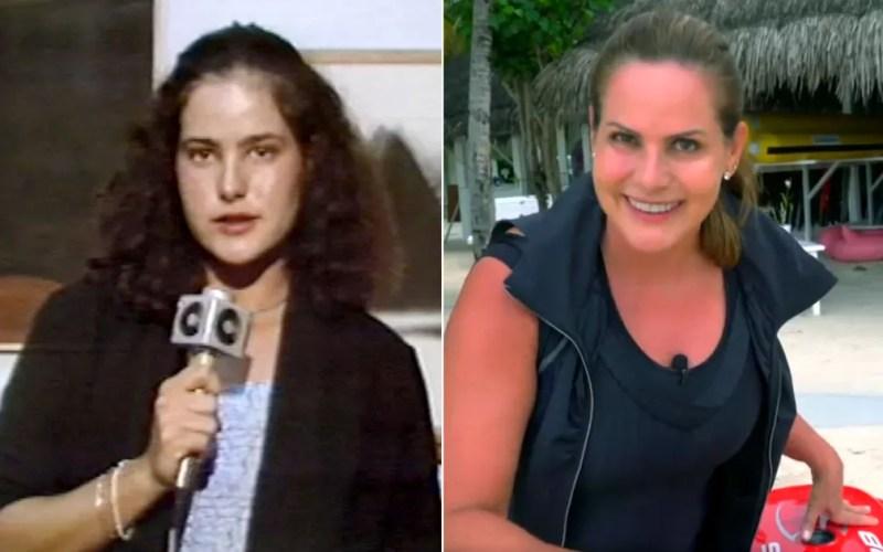 Renata Ceribelli foi repórter na EPTV Campinas na década de 80 e está no Fantástico. — Foto: Arte/G1