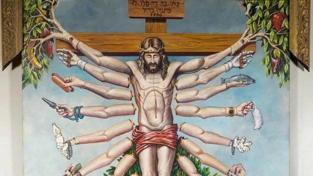 Obra do gaúcho Fernando Baril foi considerada uma ofensa ao cristianismo (Foto: Divulgação/BBC)