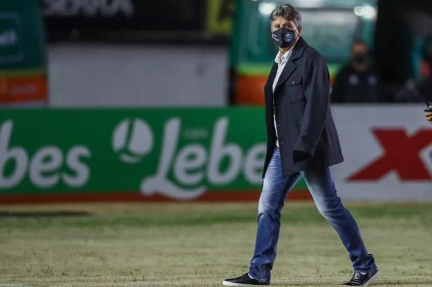 Renato Gaúcho, técnico do Grêmio — Foto: Lucas Uebel/Grêmio