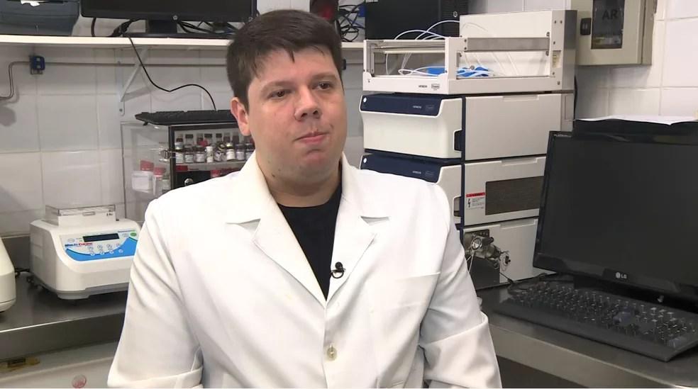 O farmacêutico Rafael Lanaro, da Unicamp — Foto: Reprodução / EPTV