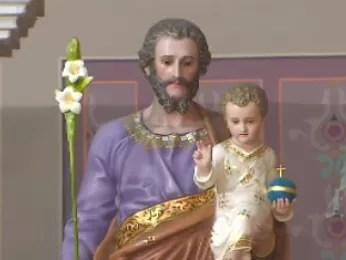 Imagem do santo, padroeiro de São José dos Campos. (Foto: Reprodução/TV Vanguarda)