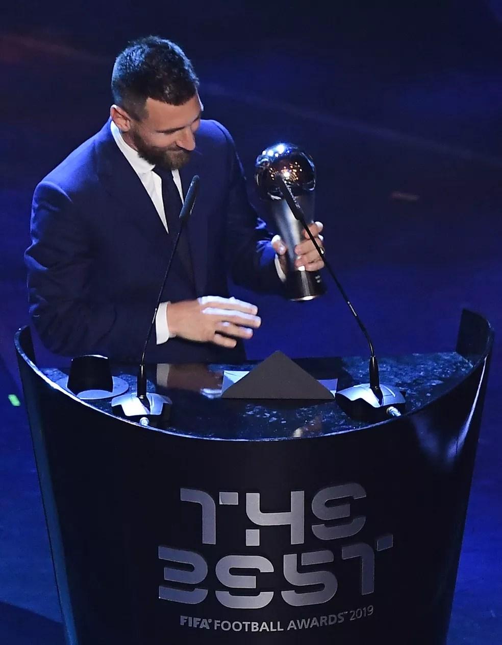 The Best tem Messi como atual vencedor — Foto: AFP