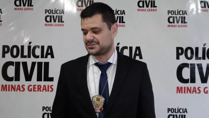 Delegado Márcio Savino em Juiz de Fora (Foto: Fellype Alberto/G1)