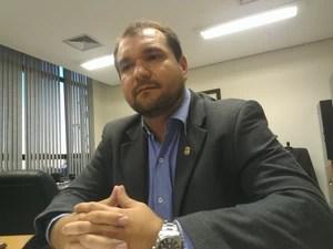 Chefe de gabinete do Naturatins, Rômulo Rogério Mascarenhas, diz que instituto sabia das investigações (Foto: Bernardo Gravito/G1)