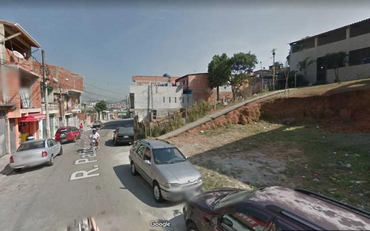 Rua Patrocínio Paulista, em Carapicuíba, onde perseguição policial deixou um suspeito morto — Foto: Reprodução/Google Maps