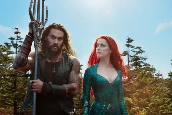 Jason Momoa and Amber Heard in aquaman scene (2018) (Photo: Reproduction)