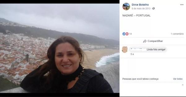 Dircelene Botelho morreu asfixiada e filha e o namorado são suspeitos do crime — Foto: Reprodução/Facebook