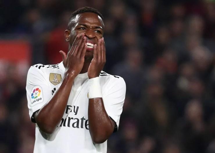 Vinicius Junior teve bons jogos e lesão no Real Madrid — Foto: Reuters