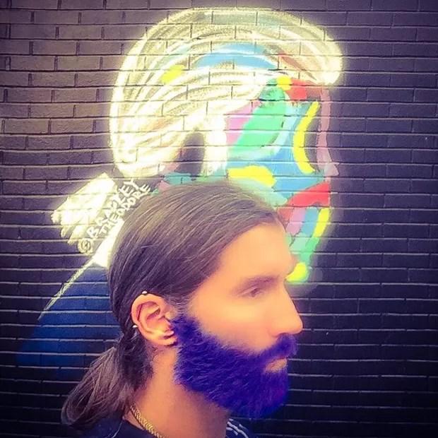 Felipe Veloso e a barba rosa (Foto: Reprodução/Instagram)
