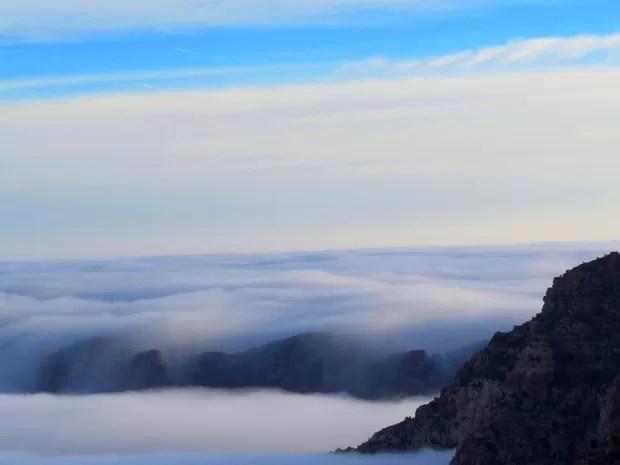 Fenômeno encobre a vista do Grand Canyon, no Arizona. (Foto: AP Photo/National Park Service, Maci MacPherson)