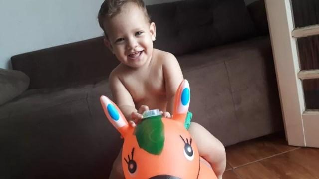 Bebê de 1 ano e 3 meses sofreu acidente grave em creche — Foto: Arquivo pessoal