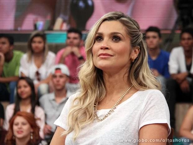 Flávia Alessandra participa do programa Altas Horas deste sábado (Foto: TV Globo/Altas Horas)