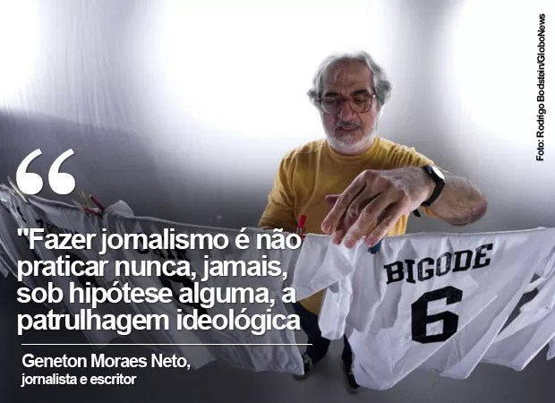 Frases de Geneton Moraes Neto (Foto: Rodrigo Bodstein/GloboNews)