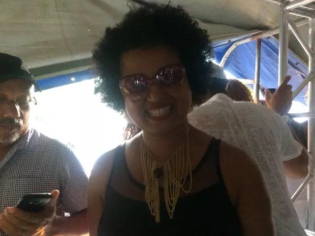 Tânia Toko também participou da festa (Foto: Henrique Mendes / G1)