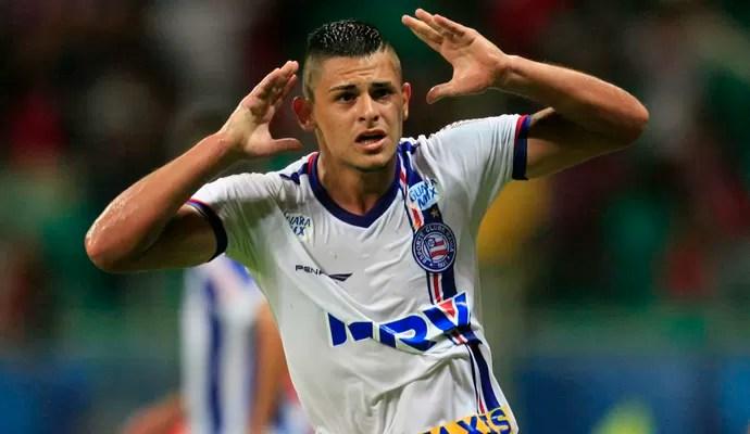 Jacó gol Bahia x Paysandu (Foto:  LUCIO TAVORA - Agência Estado)