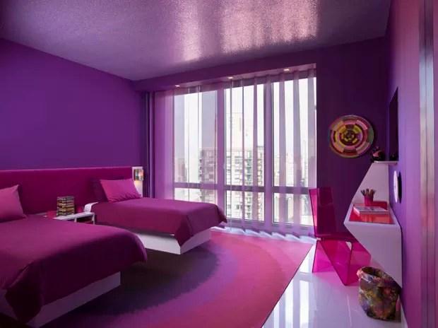15 quartos incrveis decorados com roxo e lils  Casa
