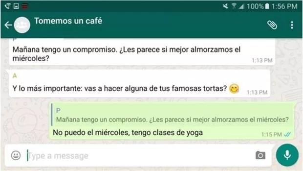 WhatsaApp ganha recurso para mensagens em grupo; 3º Passo (Foto: BBC)