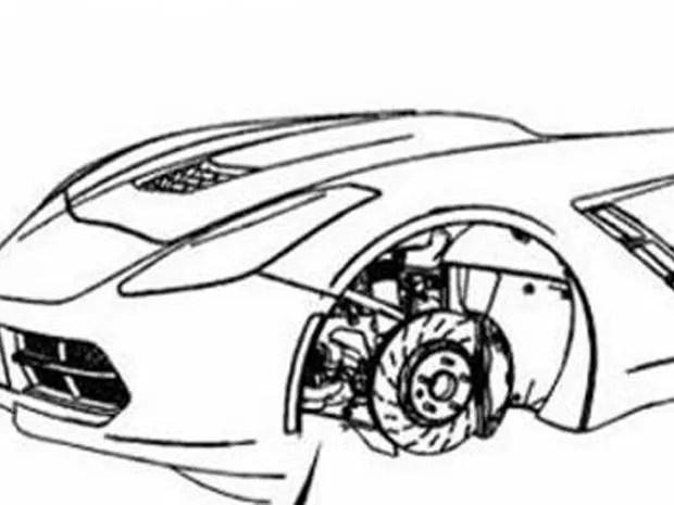 Dianteira do Chevrolet Corvette 2014 é revelada em manual