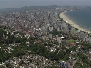 Cidades da Baixada Santista estão em boas colocações no ranking do IDH (Foto: Reprodução/TV Tribuna)