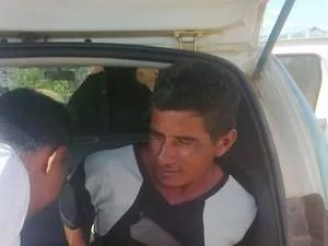 Ednaldo foi levado para a cadeia de São Luiz (Foto: Divulgação/PM)