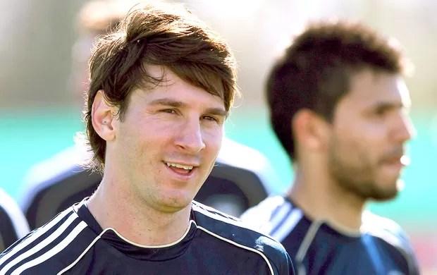Messi no treino da seleção da Argentina (Foto: Reuters)