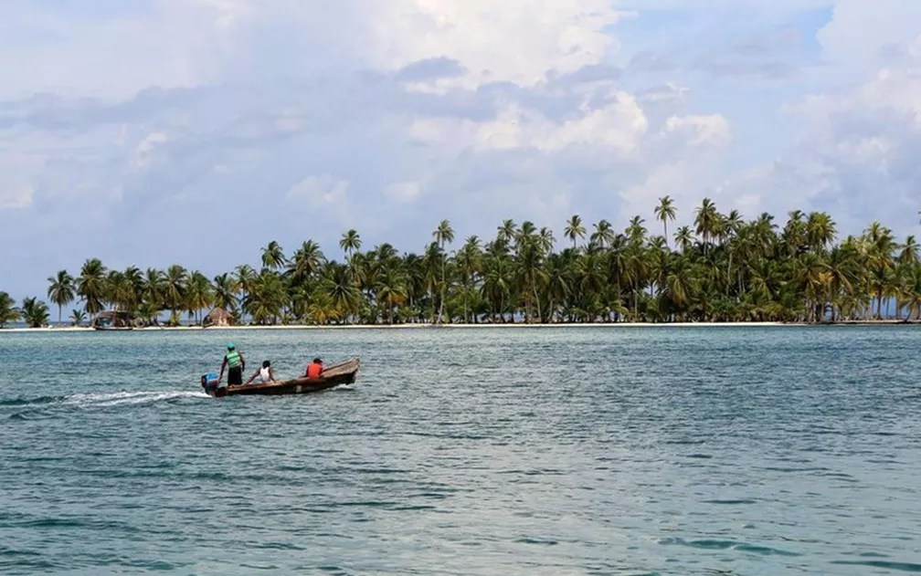 A ausência de grandes construções permite uma vista sem obstáculos de ilha para ilha (Foto: BBC/Colleen Hagerty)