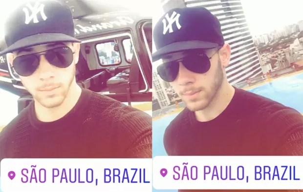 Nick Jonas em São Paulo (Foto: Reprodução/Instagram)