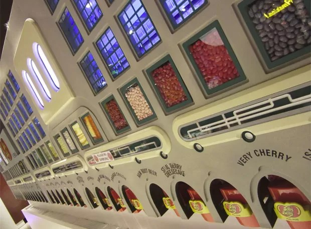 Loja gigante de doces (Foto: Flávia Mantovani/G1)