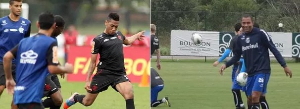 Flamengo e Grêmio treinam para partida de domingo (Foto: Maurício Val / VIPCOMM / Hector Werlang / Globoesporte.com)