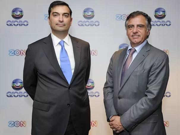 Luís Lopes, administrador da ZON e Ricardo Scalamandré, diretor da Central Globo de Negócios Internacionais (Foto: divulgação)