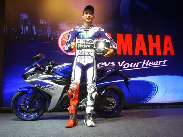 Jorge Lorenzo veio ao Brasil para o lançamento da Yamaha YZF-R3 (Foto: Mario Villascusa / Divulgação)